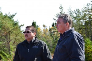 Chief Bob Gloade (Millbrook First Nation) and Chief Sidney Peters (Glooscap First Nation) at the All Chiefs' meeting in October 2012 in Debert, Nova Scotia.