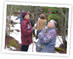 Elders Sister Dorothy Moore and Judy Bernard Julian visit the proposed site of the Mi'kmawey Debert Cultural Centre, December 2008.