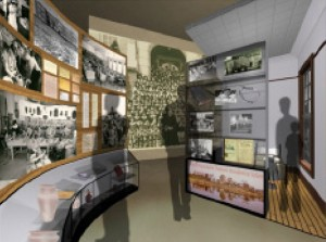Gallery schematic showing the historical overview of the Shubenacadie Indian Residential School at the future MDCC. Image courtesy of Lundholm Associates Architects.