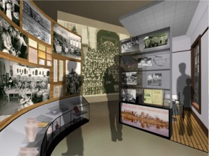 A concept of how the first tier exhibits in Gallery 3 could look. Image courtesy of Lundholm Associates Architects.