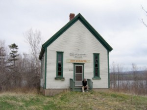 Doug Knockwood sits at the day school building in Newville Lake, recounting stories of the residential school and how it compared to the day school.