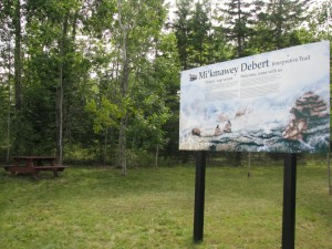 The Mi'kmawey Debert Interpretive Trail has allowed the project the first opportunity to tell our story in our own words, through five interpretive panels.